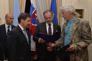 Slovak president Kiska in NYC