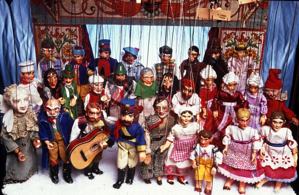 "Eight inch marionettes by Jakub ""Kuba"" Krejcí   from Czeck Republic.      Photo by Orlando Marra"